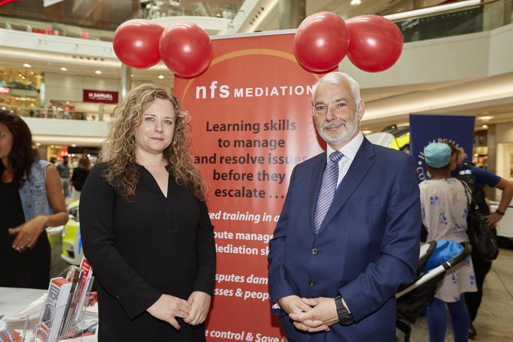Mediator Helen Abrahams and PCC Michael Lane